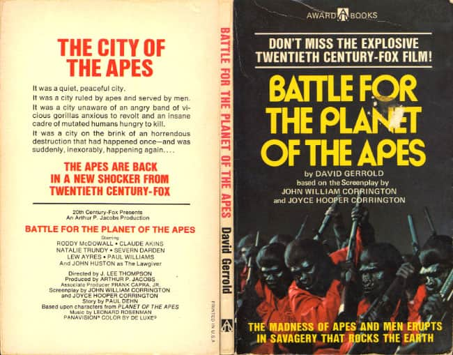 Battle for the Planet of the Apes - David Gerrold cover