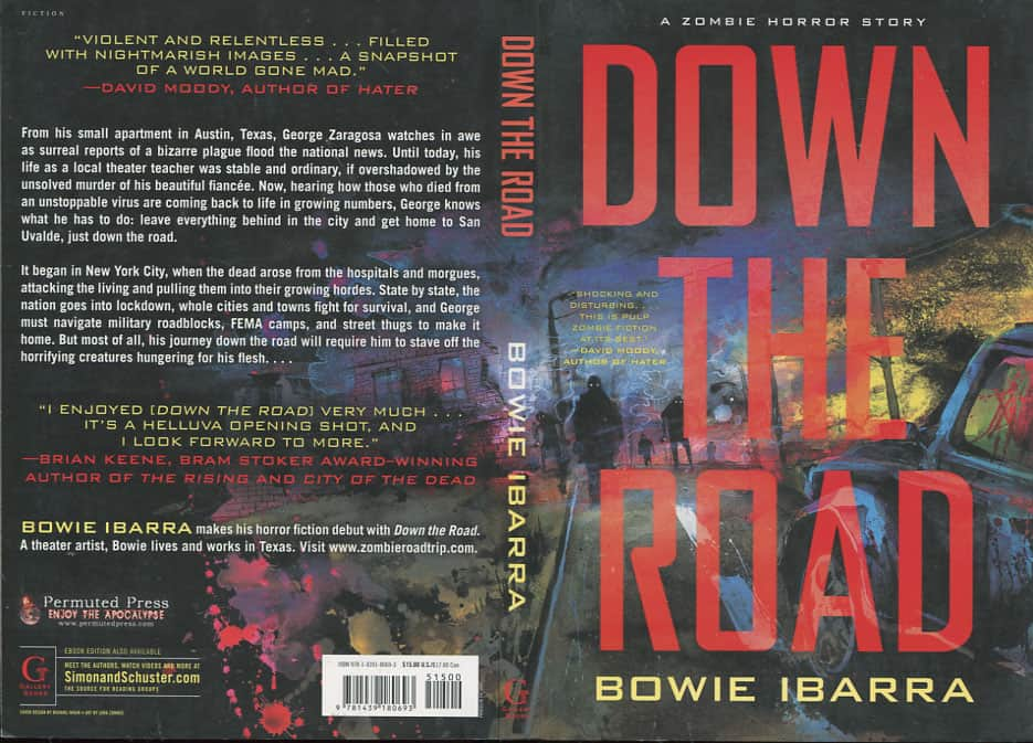 Down the Road: A Zombie Horror Story - Bowie Ibarra cover