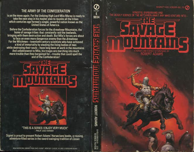 The Savage Mountains  - Robert Adams cover