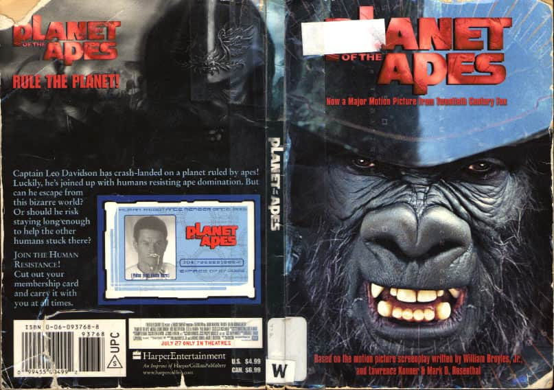 Planet of the Apes: A Novelization - John Whitman cover