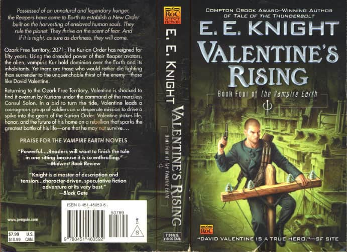 Valentine's Rising - E E Knight cover